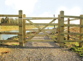 Wooden fencing - Gabalfa, Cardiff - PRS -  Wooden Gate