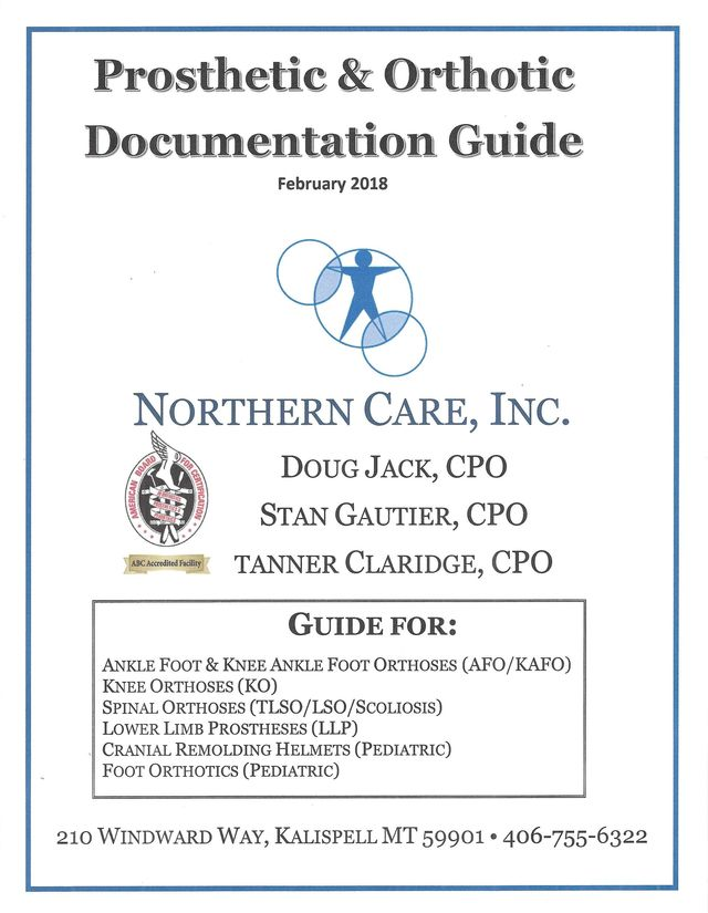 Physician Forms - Northern Care Inc , Prosthetics & Orthotics