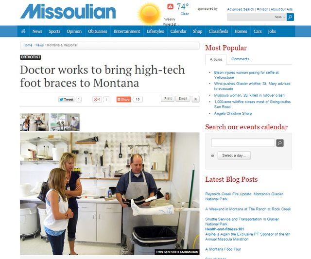 """Doctor works to bring high-tech foot braces to Montana"""