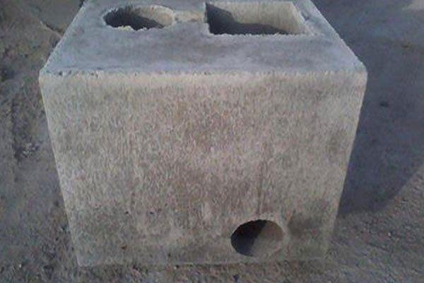 un blocco di cemento