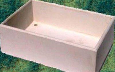 Pezzo rettangolare per collocare i vasi da fiori