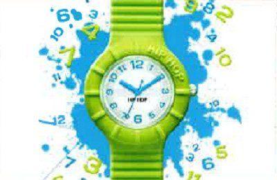 orologio con cinturino in silicone verde