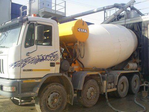 betoniera bianca