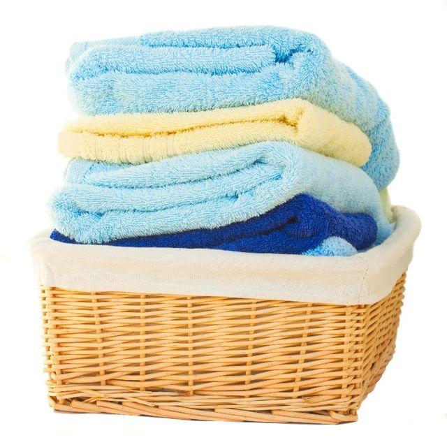 Basket full of fresh laundry