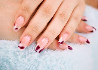 Manicure done in the nail salon in La Crosse, WI