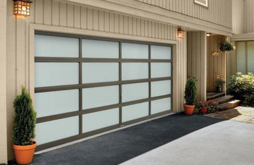 A garage door in a residential property in Olive Branch, MS