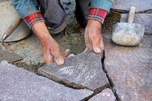 stone laying