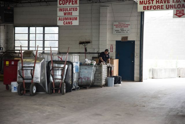 One of our recycling centers in Cincinnati, OH