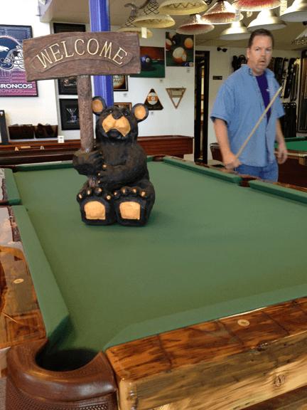 Custom Wood and Log Pool Tables