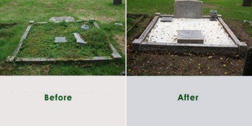 Gravestone cleaning