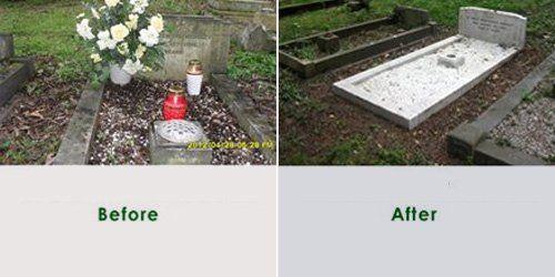 Grave maintenance