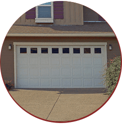white coloured garage door