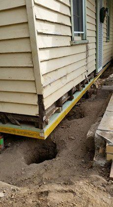 house being raised by down under restumping