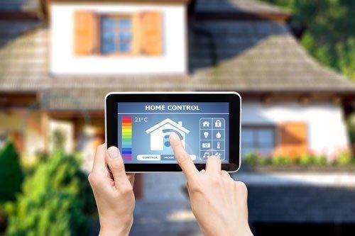 tablet con app di domotica