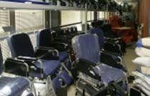 sedie blu con le ruote