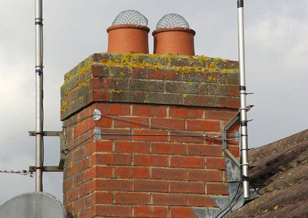 chimney made of bricks