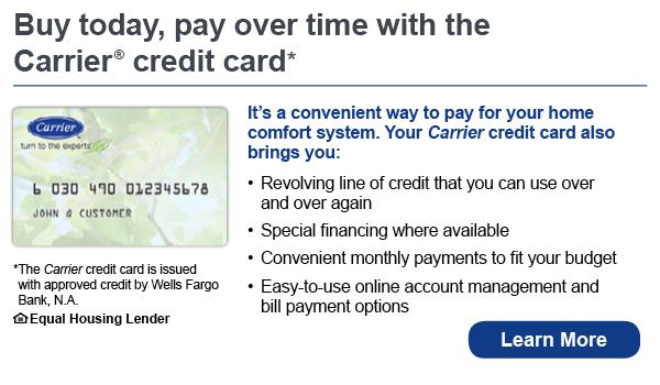Carrier financing banner image