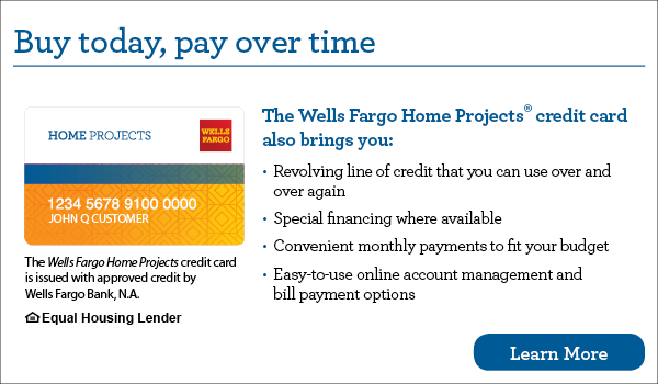 Wells Fargo Home Projects financing image