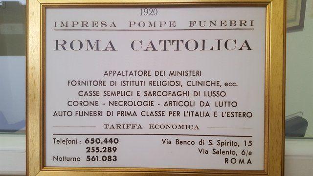 storica targa roma cattolica