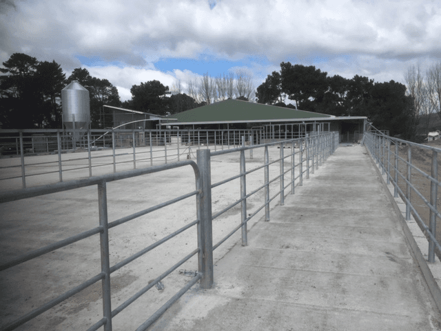 View of the welded railing done by experts