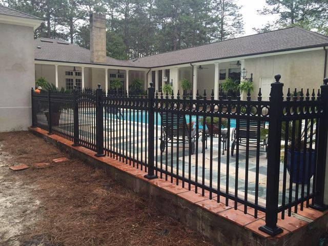 Aluminum fencing in Moultrie, GA.