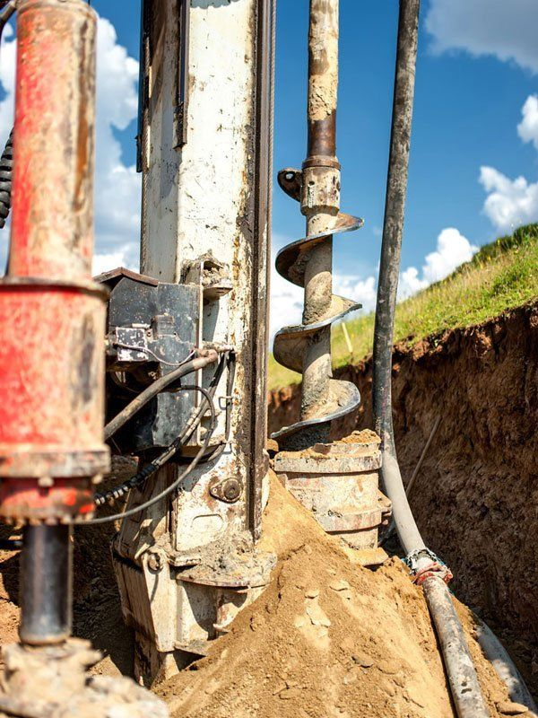 Open bore piling