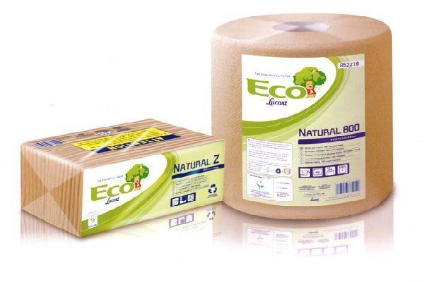 n rotolo confezionato con scritto Eco Lucrant natural 800