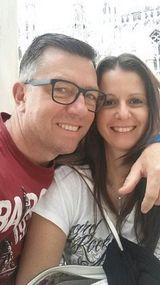 coppia con sorridente