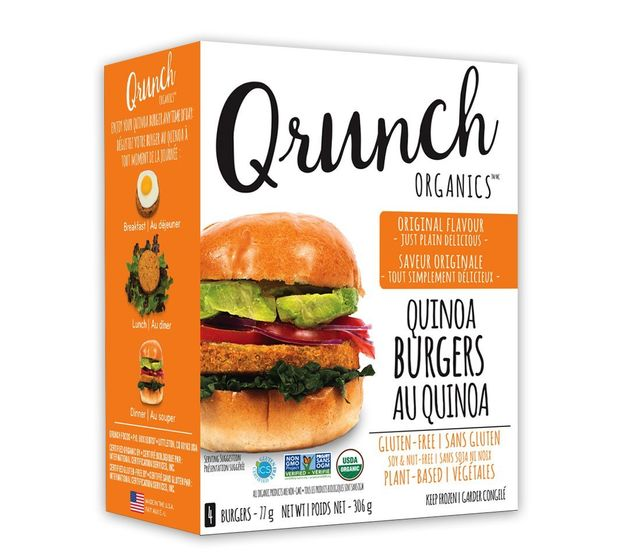 Qrunch Organic - Quinoa Burgers - Chef Pola Canada