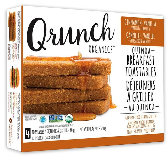 Qrunch Breakfast Toastables available in Canada through Chef Pola