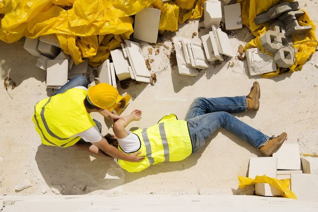 Construction worker has an accident while working