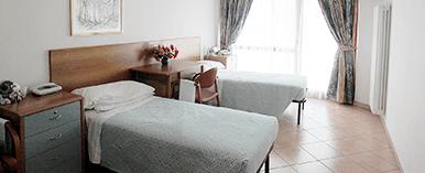 Le camere della casa di riposo
