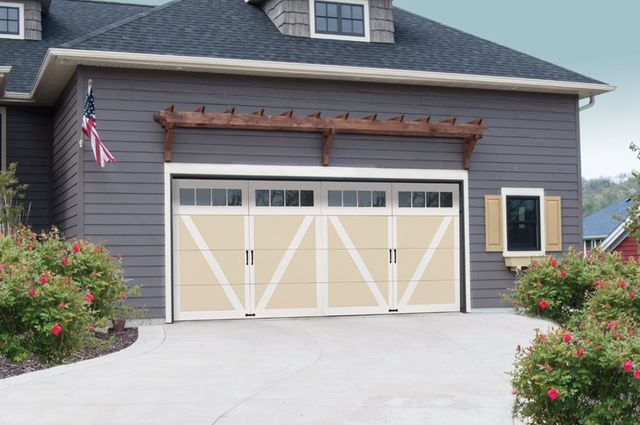 Wind Load Garage Doors Courtyard