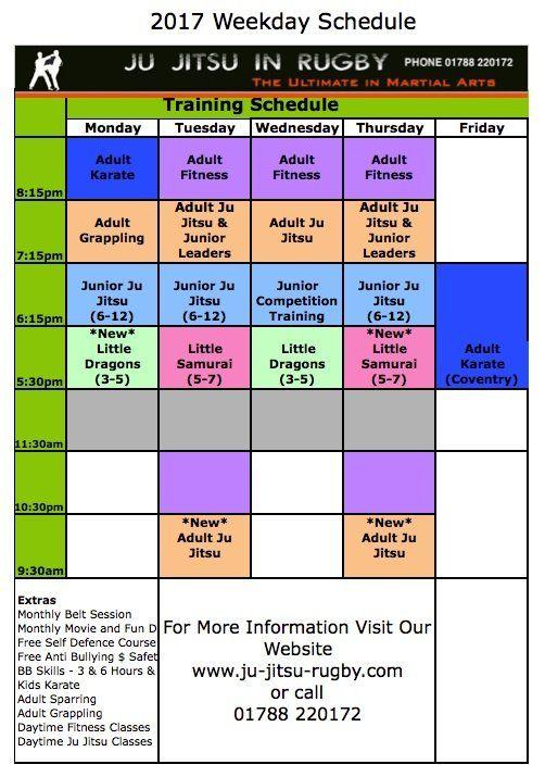 ju jitsu rugby training schedule