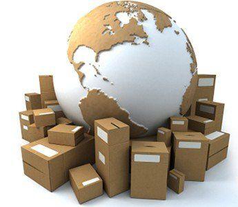 Il pianeta circondato da delle casse di imballaggio