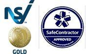 Safety Contractor and NSI Gold Logos