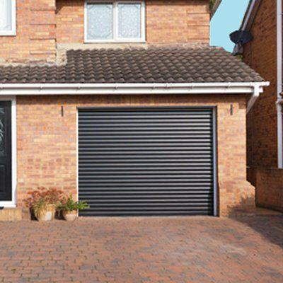 grey shutter door