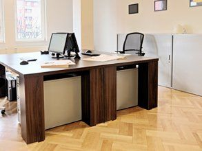 parquet flooring in an office