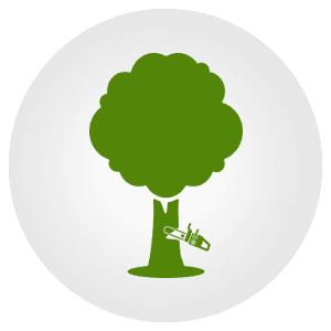 tree cutting icon