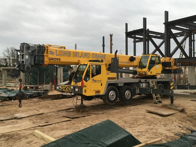 Commercial job site - Long Island Crane & Rigging Inc. - Westhamton Beach NY