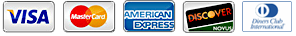 Payment Icons - Visa, MasterCard, American Express, Visa, Diners Club Interational