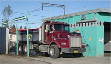 Truck in a wash bay in Anchorage, AK