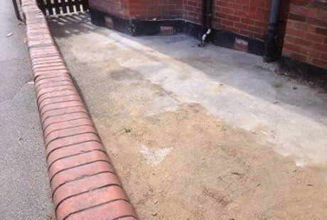 leftover sand after construction