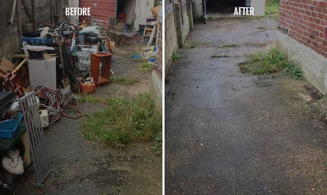 before and after rubbish clearance