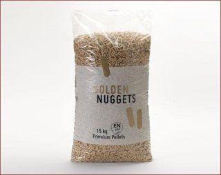 Un sacco di pellet con scritto golden nuggets