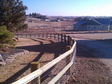 Post and Pole with Fence — Fence contractor in Boise, ID