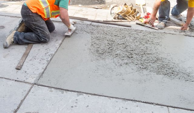 Commercial slabs for a concrete sidewalk in Lincoln, NE