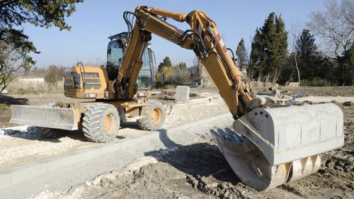 Digger available on rent for construction services