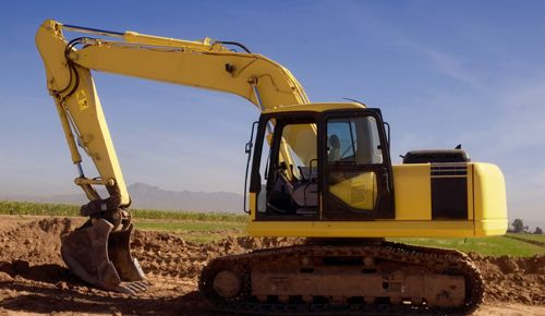 Digger for earthwork services in Wellington