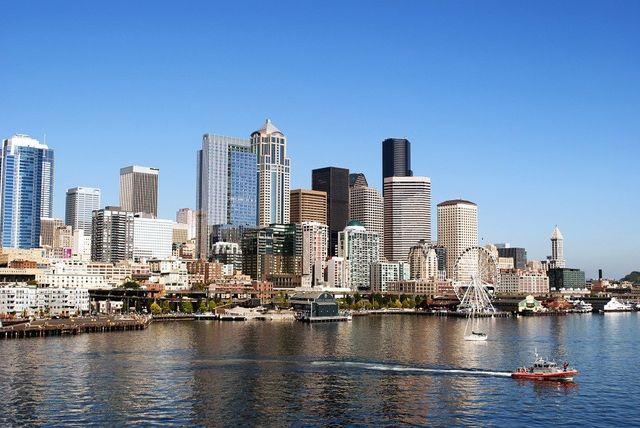 Seattle, WA Skyline Near Lake Washington